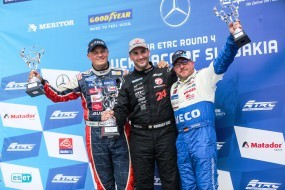 Veľká cena Slovenska na okruhu Slovakia Ring priniesla tímu Bullen IVECO Magirus tri miesta na stupni víťazov